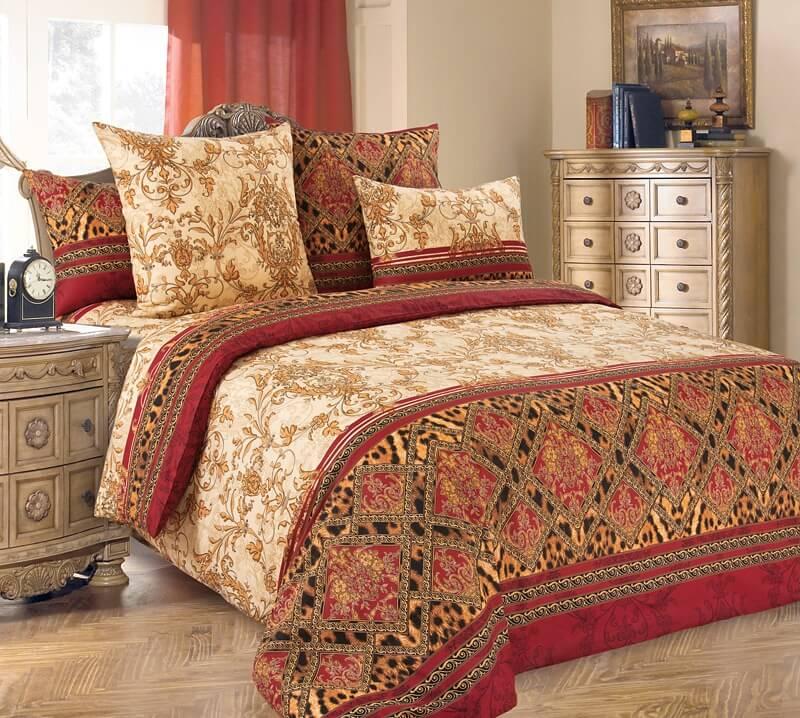 Комплект постельного белья 1,5-спальный, поплин (Императрица)