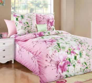 """Комплект постельного белья 1,5-спальный, бязь """"Люкс"""" (Магия цветов)"""