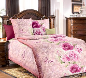 """Комплект постельного белья 1,5-спальный, бязь """"Люкс"""" (Аромат розы 3 D)"""