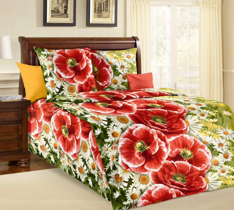 """Комплект постельного белья 1,5-спальный, бязь """"Люкс"""" (Ассоль 3 D)"""