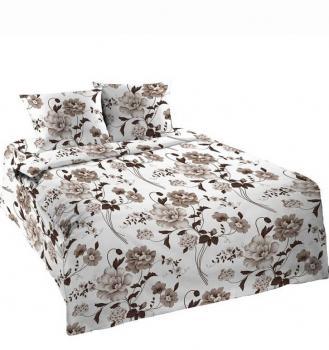 Комплект постельного белья 1,5-спальный, бязь Шуйская ГОСТ (Вальс, бежевый)