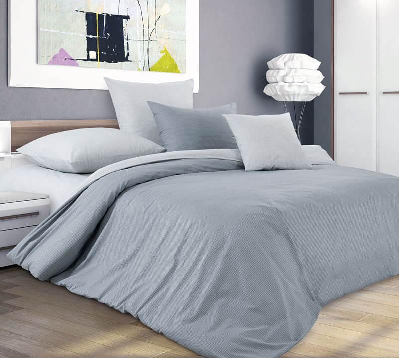 Комплект постельного белья 1,5-спальный, поплин (Горный ветер)