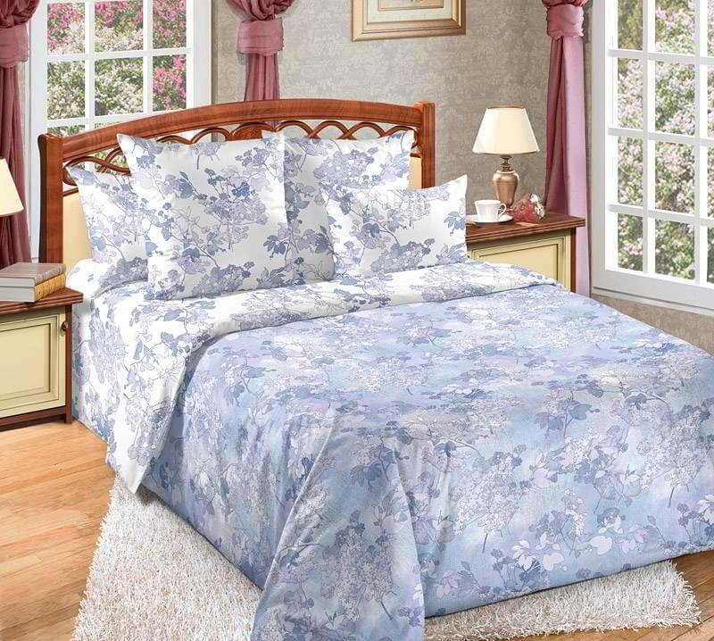 Комплект постельного белья 1,5-спальный, поплин (Пастель)