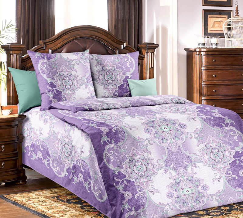 """Комплект постельного белья 1,5-спальный, бязь """"Люкс"""" (Самоцветы)"""