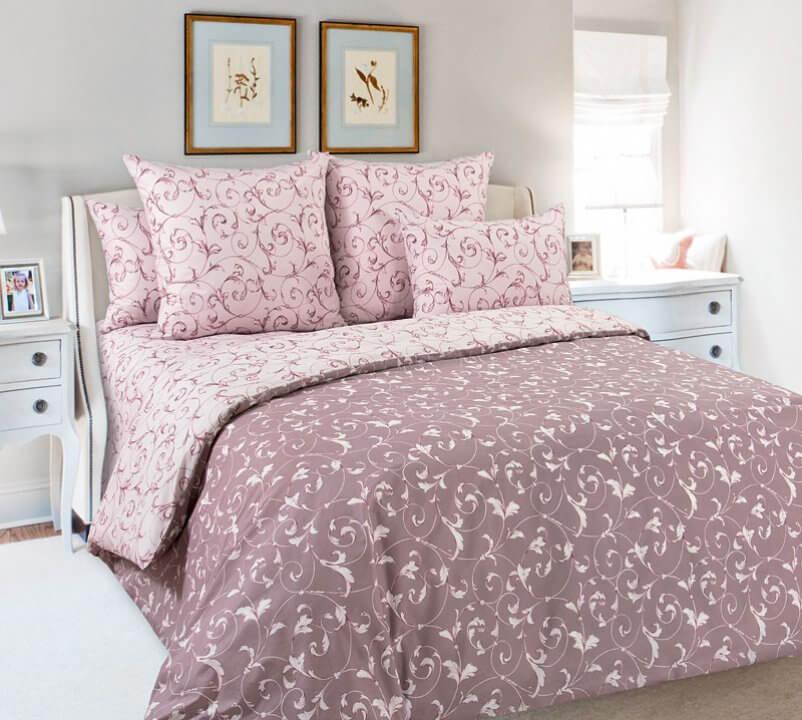Комплект постельного белья 1,5-спальный, поплин (Габриэль, розовый)
