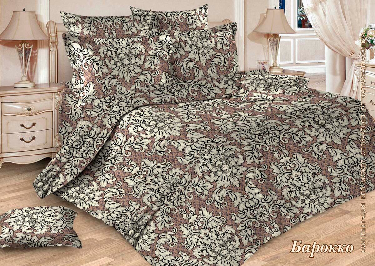 Комплект постельного белья 1,5-спальный, бязь  ГОСТ (Барокко, бежевый)