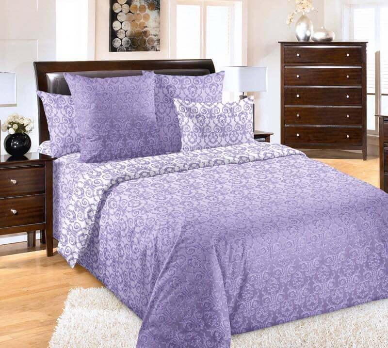 Комплект постельного белья 1,5-спальный, поплин (Тайна)