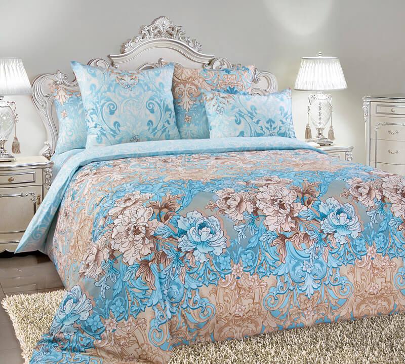 Комплект постельного белья 2-спальный, поплин (Вивьен)