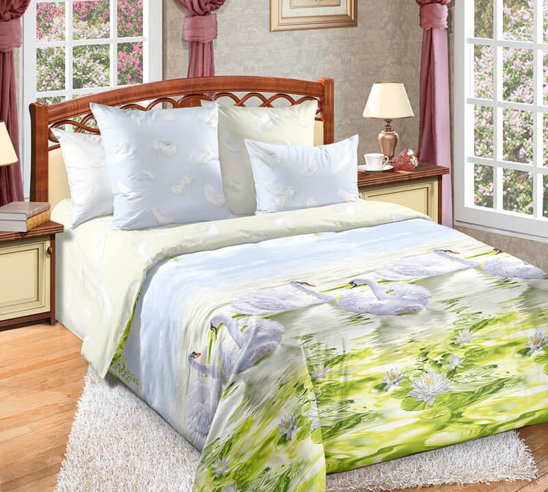 Комплект постельного белья 2-спальный, поплин (Верность)