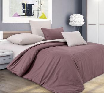 Комплект постельного белья Евростандарт, поплин (Шоколадный крем)