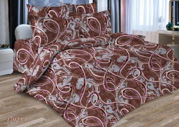 Комплект постельного белья Евростандарт, бязь  ГОСТ (Эдем, бордовый)
