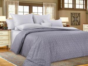 Комплект постельного белья Евростандарт, сатин (Этюд, серый)