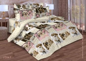 Комплект постельного белья Семейный, бязь  ГОСТ (Галерея собак)