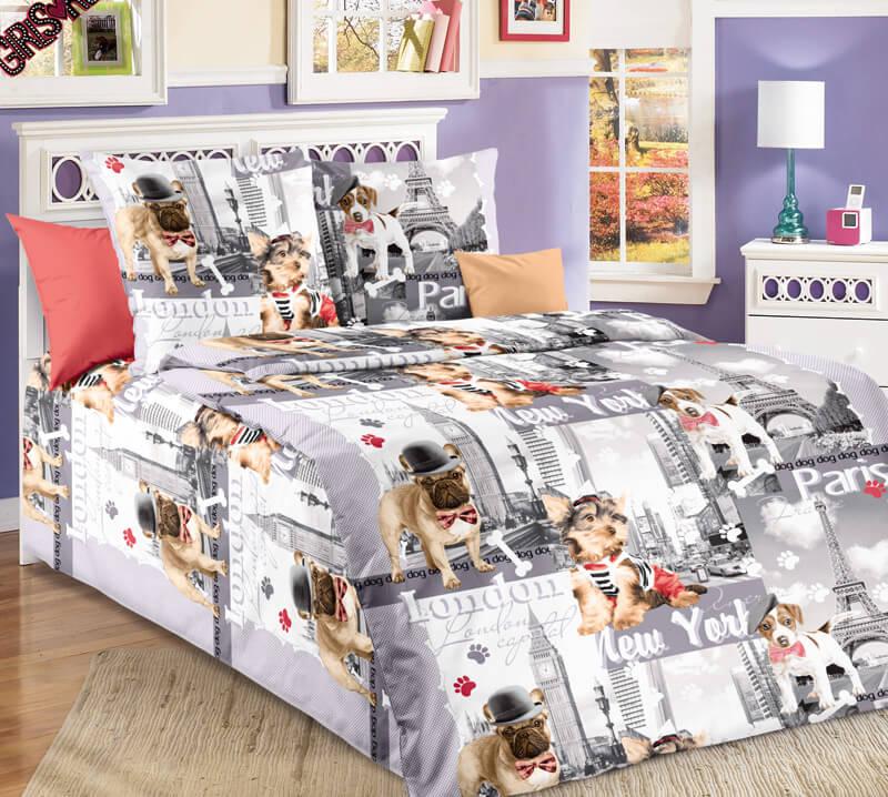 """Комплект постельного белья в детскую кроватку, бязь """"Люкс"""" (Евротур)"""