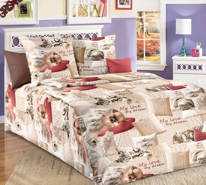 """Комплект постельного белья 1,5-спальный, бязь """"Люкс"""", детская расцветка (Милый друг)"""