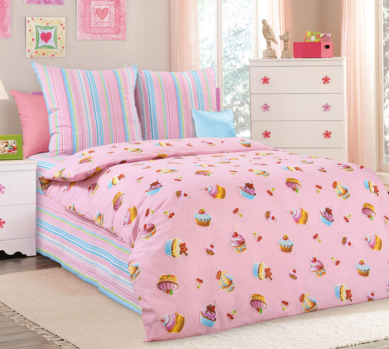 """Комплект постельного белья 1,5-спальный, бязь """"Люкс"""", детская расцветка (Сластёна)"""