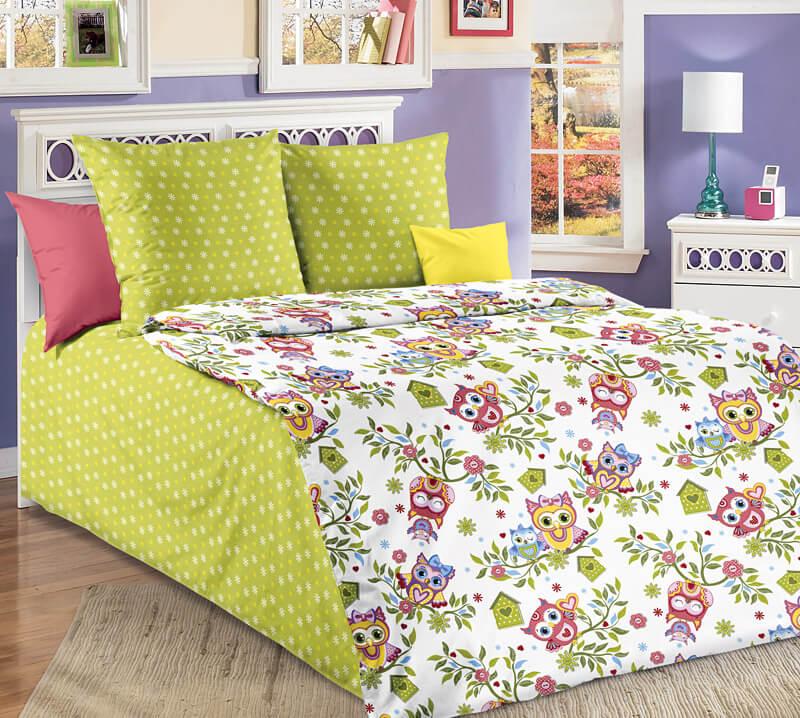 """Комплект постельного белья 1,5-спальный, бязь """"Люкс"""", детская расцветка (Совята)"""