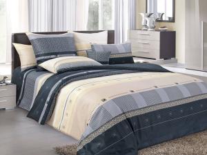 Простыня 2-спальная, поплин (Мишель, черный)