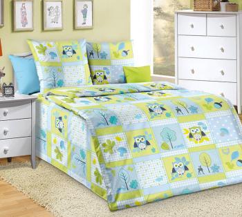 """Простыня на резинке 060*120 см, бязь """"Люкс"""", детская расцветка (Дорис, голубой)"""
