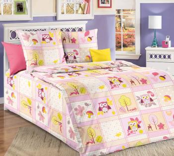 """Комплект наволочек 40*60 см (2 шт.), бязь """"Люкс"""", детская расцветка (Дорис, розовый)"""