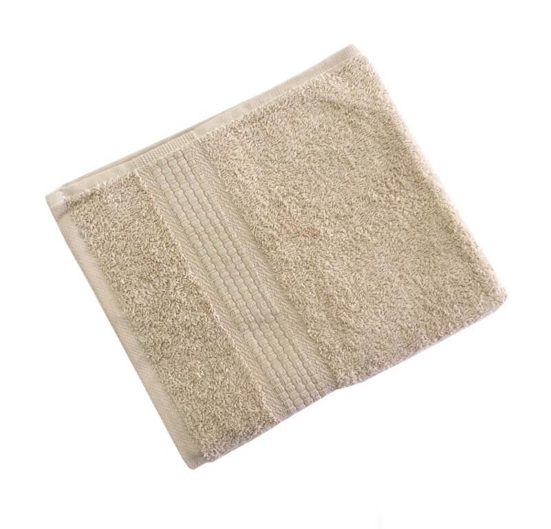 Махровое гладкокрашенное полотенце 40*70 см 460 г/м2 (Бежевый)