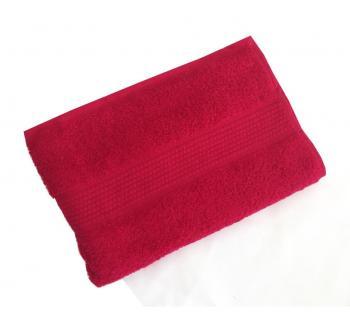 Махровое гладкокрашенное полотенце 40*70 см 460 г/м2 (Брусника)