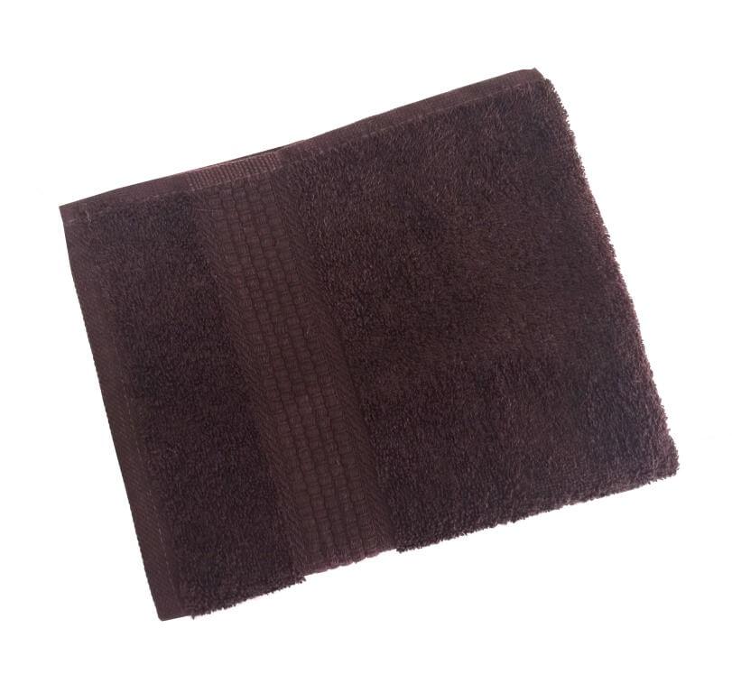 Махровое гладкокрашенное полотенце 40*70 см 460 г/м2 (Горький шоколад)