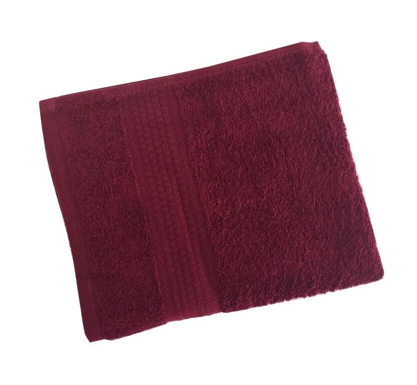 Махровое гладкокрашенное полотенце 40*70 см 460 г/м2 (Бордовый)