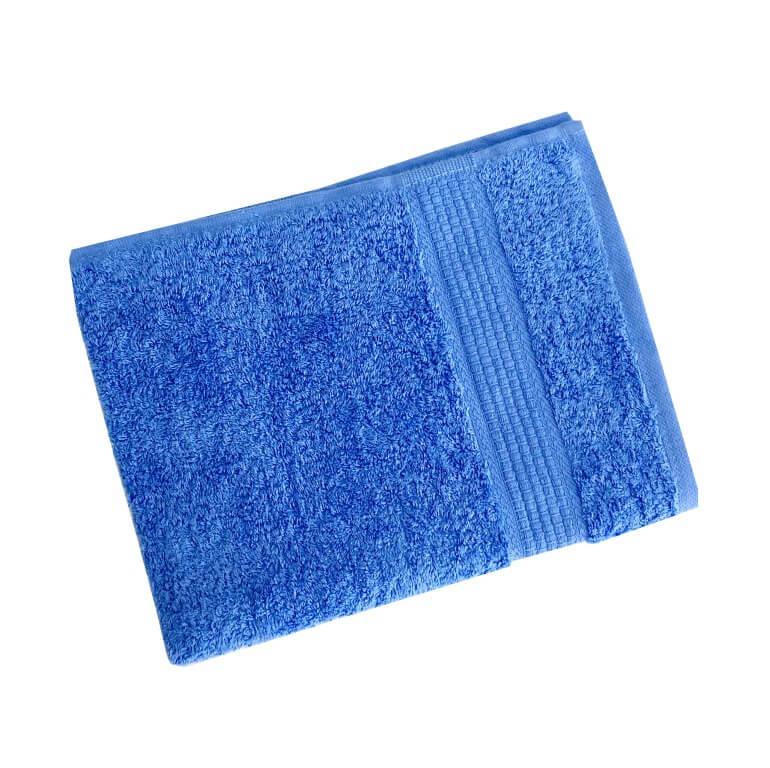 Махровое гладкокрашенное полотенце 50*90 см 460 г/м2 (Голубой)