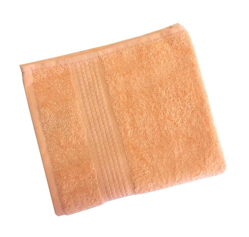 Махровое гладкокрашенное полотенце 50*90 см 460 г/м2 (Персик)