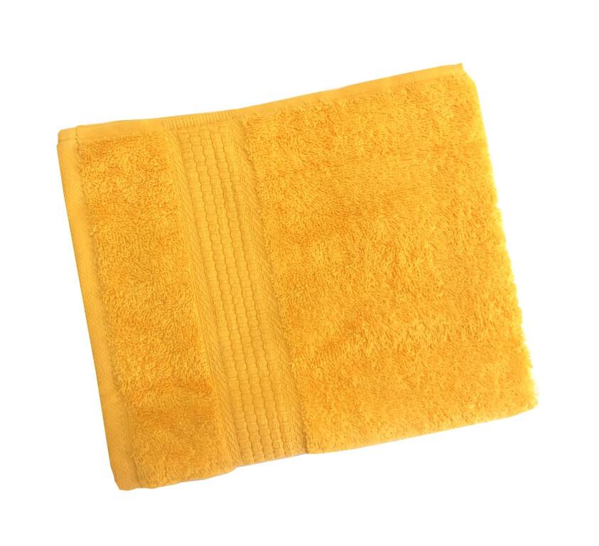 Махровое гладкокрашенное полотенце 50*90 см 460 г/м2 (Ярко-желтый)