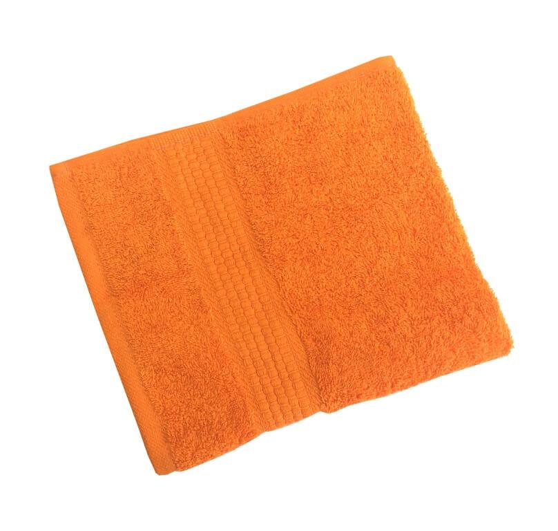 Махровое гладкокрашенное полотенце 50*90 см 460 г/м2 (Апельсиновый)