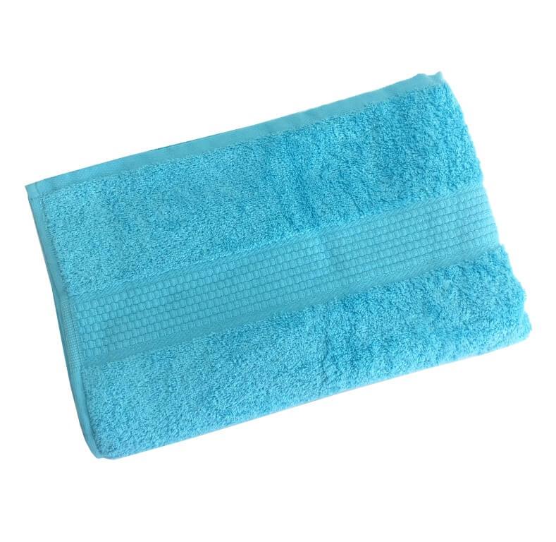Махровое гладкокрашенное полотенце 50*90 см 460 г/м2 (Ярко-голубой)