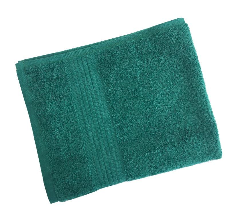 Махровое гладкокрашенное полотенце 50*90 см 460 г/м2 (Темно-зеленый)