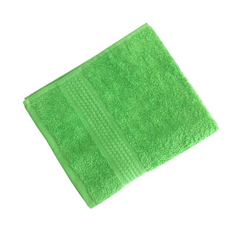 Махровое гладкокрашенное полотенце 50*90 см 460 г/м2 (Салатовый)