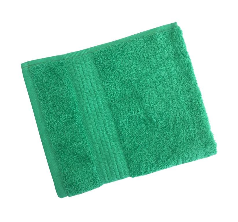 Махровое гладкокрашенное полотенце 50*90 см 460 г/м2 (Ярко-зеленый)