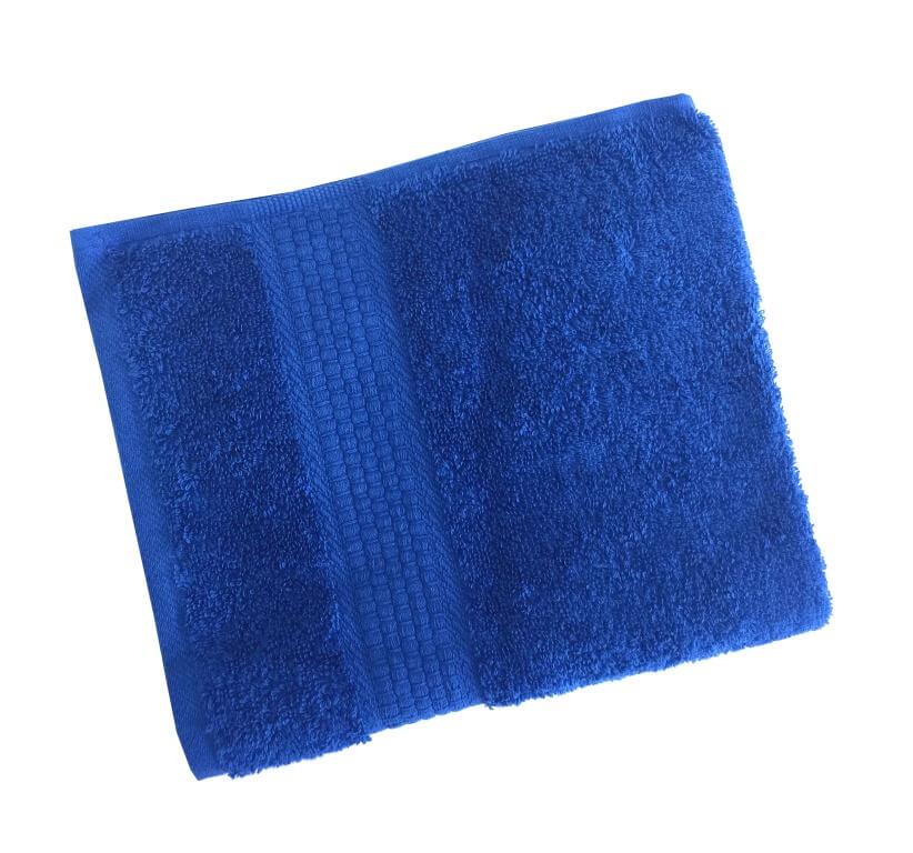 Махровое гладкокрашенное полотенце 50*90 см 460 г/м2 (Ярко-синий)
