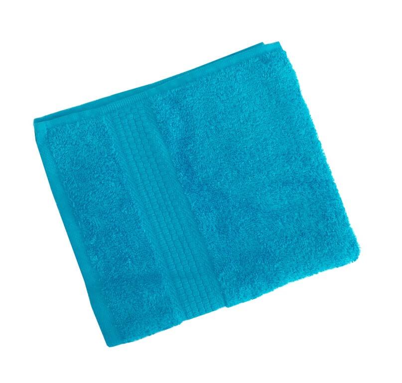 Махровое гладкокрашенное полотенце 50*90 см 460 г/м2 (Бирюза)