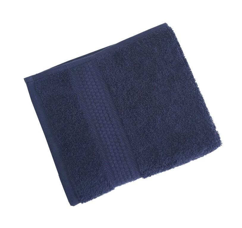 Махровое гладкокрашенное полотенце 50*90 см 460 г/м2 (Темно-синий)