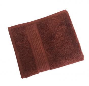 Махровое гладкокрашенное полотенце 50*90 см 460 г/м2 (Шоколадный)