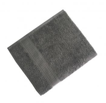 Махровое гладкокрашенное полотенце 50*90 см 460 г/м2 (Серый)