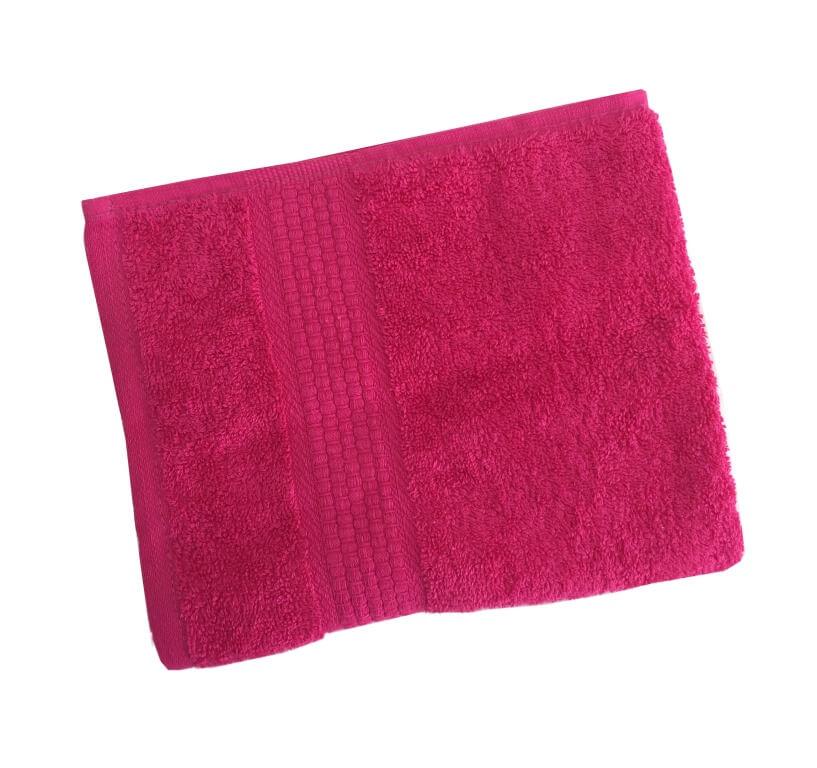 Махровое гладкокрашенное полотенце 70*140 см 460 г/м2 (Малина)