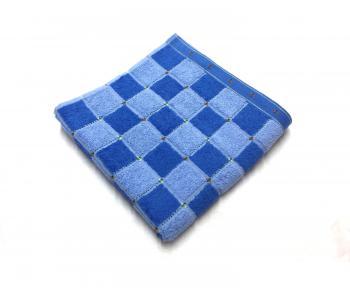 Махровое полотенце 45*90 см, Китай (Клетка, голубой)