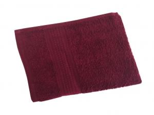 Махровое гладкокрашенное полотенце 70*140 см 460 г/м2 (Бордовый)