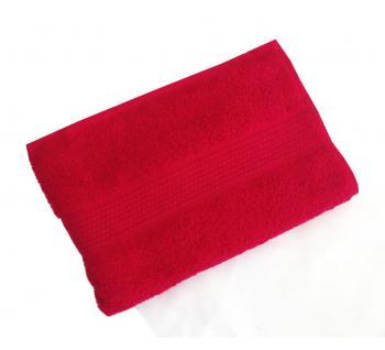 Махровое гладкокрашенное полотенце 40*70 см 460 г/м2 (Красный)