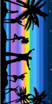 """Махровое полотенце 70*140 см, ОАО """"Авангард"""" (Пляжная дискотека 3377)"""