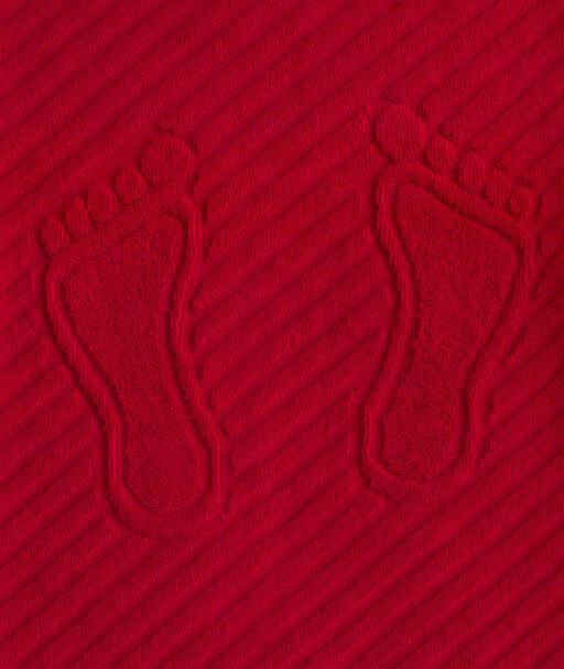 Коврик для ног, махровая ткань, хлопок 100 % (Малиновый)