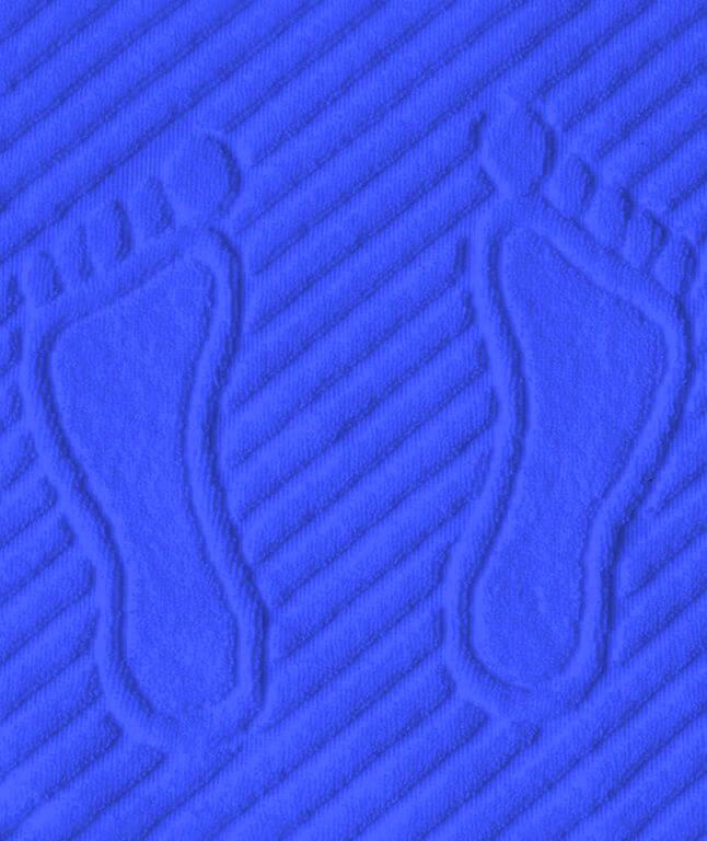Коврик для ног, махровая ткань, хлопок 100 % (Синий)