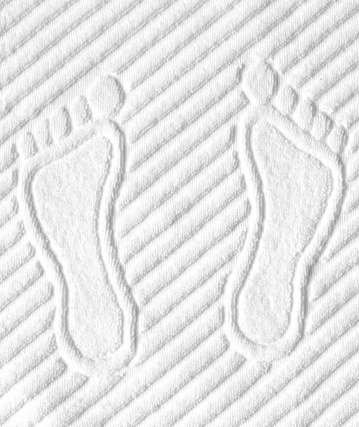 Коврик для ног, махровая ткань, хлопок 100 % (Белый)