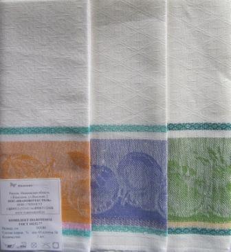 Комплект полотенец 50*80 Полулен белый фон
